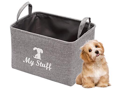 Pethiy Canvas Dog Toy Basket storage box Basket for Dog Toys, Dog Blanket, Dog Clothes Storage -...