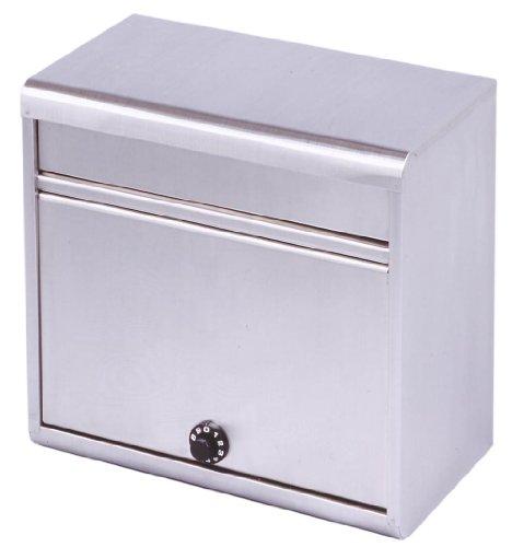 グリーンライフ(GREEN LIFE) 郵便ポスト 大型ステンレスポスト ダイヤル錠 A4封筒が入る 21.5×35.0×37.0cm PH-60D