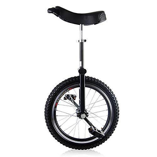SSZY Einrad 16-Zoll-Rad Kinder (7/8/9/10/12 Jahre Alt) Einrad, Rutschfester Auslaufsicherer Reifen, Jungen/Mädchen/Kind Im Freien Balance Cycling Einrad Fahrrad (Color : Black)