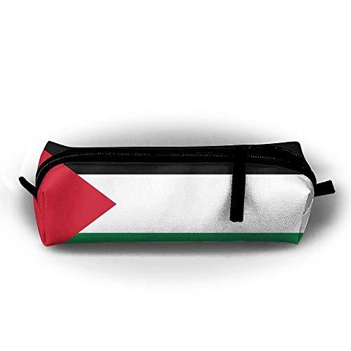 Vlag van de Palestijnse Pen Potlood Stationery Bag Make-up Case Reizen Cosmetische Borstel Accessoires Toiletten Zakken Rits Weerstand Draaggreep Power Lines Hangende Handtas Documenten