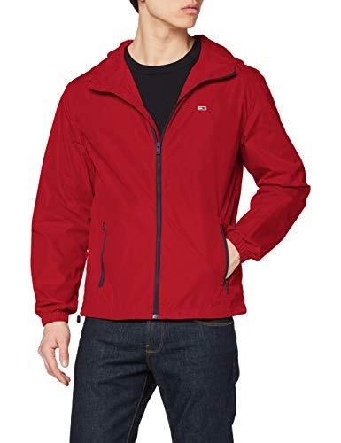 Tommy Jeans Herren Tjm Packable Windbreaker Jacke, Rot (Wine Red), X-Small