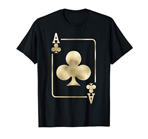 Ace of Clubs Playing Card Halloween Costume Glam T-Shirt