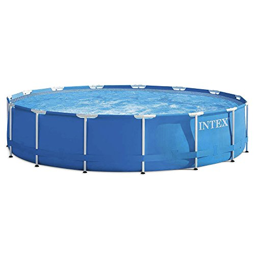 Intex Metall Frame Pool Set – Abnehmbarer Tubular 457 x 122 cm