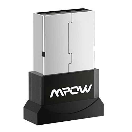 Mpow Bluetooth 4.0 USB Dongle Adapter, Bluetooth Transmitter Receiver Supports Windows 10, 8, 7, Vista XP 32/64 Bit Laptop PC for Bluetooth Speaker, Headset, Keyboard, Mouse and More, Plug and Play