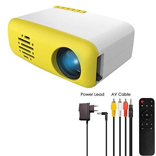 3T6B Mini Proyector para Niños, Portátil Proyectors de Cine en Casa LED, Compatible con HDMI AV USB Micro, Conectar a PC Laptop Game, para Entretenimiento en Hogar