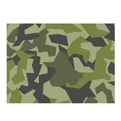 Alfombrilla de secado de platos, Suecia M, diseño de camuflaje del ejército sueco absorbente, reversible, de microfibra, protector de almohadilla seca para encimera de cocina, 30,5 x 40,6 cm