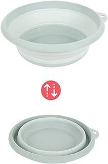 Portable multifonction Round Bowl Vaisselle pliable Seau bassin de bain Lavabo portable pliant Lavabo Camping Voyage Touri...