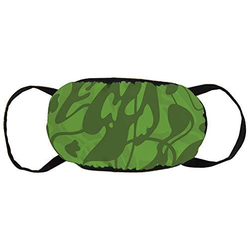 Stofvervuilingsmasker, Groene Camouflage Patroon, Zwart Oor Pure Katoen masker, Geschikt voor Mannen en Damesmaskers