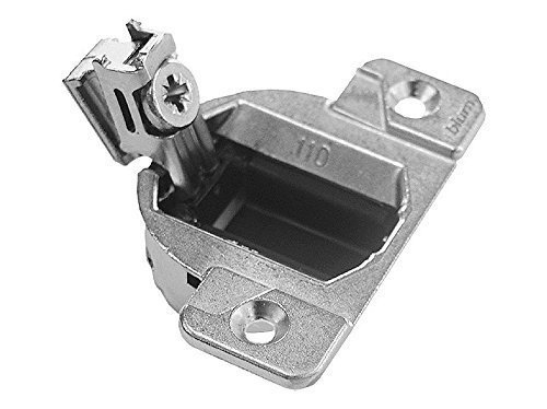 Blum 33.3600 Compact 33 Screw on 110 Degree Opening Face Frame Hinge, Zinc Die-Cast (Pack of 20) with Installation Screws and Bumpers - Hinges for Cabinets