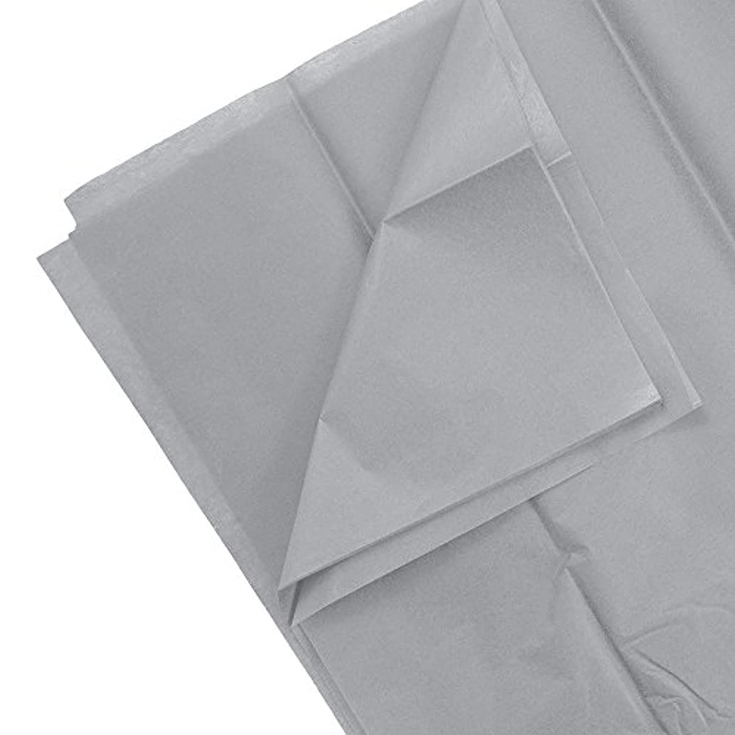 JAM Paper Tissue Paper - Grey/Silver - 10 Sheets/pack
