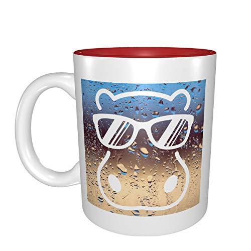 Hippopótamo con gafas de sol, la mejor idea de regalo de cumpleaños para tazas de porcelana