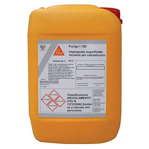 Purigo I-100, Impregnante Superficiale Antipolvere per Pavimenti in Calcestruzzo, Resistete all'usura, Incolore, 5kg