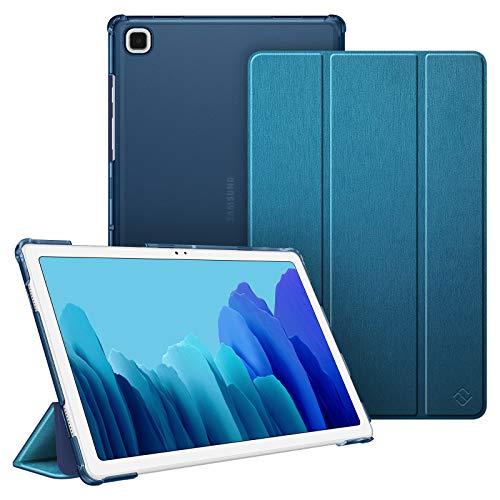 Fintie Funda Compatible con Samsung Galaxy Tab A7 10.4' 2020 - Trasera Transparente Mate Carcasa Ligera con Función de Auto-Reposo/Activación para Modelo de SM-T500/T505/T507, Azul Verde