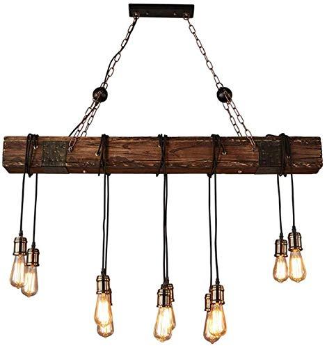 SKSNB Lámpara Colgante Vintage Retro Madera Diseño Industrial Lámpara Colgante Lámpara Colgante Cocina Isla Comedor Mesa de Comedor Bar Loft Araña Edison Lámpara Colgante rústica
