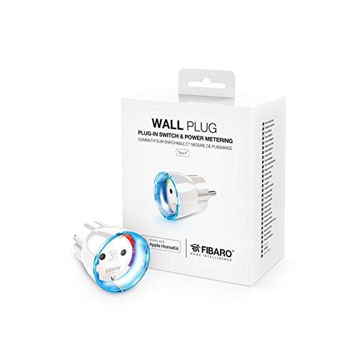 FIBARO HomeKit Wall Plug / iOS Bluetooth Smart Schalter, Steckdose Plug mit Leistungsmessung Typ F, FGBWHWPF-102