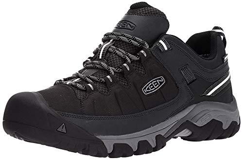 KEEN Utility Men's Targhee EXP WP Hiking Shoe, Black/Steel Grey, 10.5 M US