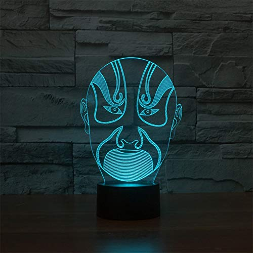 WANGXN 3D LED Optical Illusion lampen Night Light 7 kleuren Touch Art Sculptuur lichten