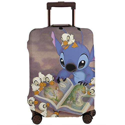 Travel Luggage Cover Anime Color Lilo Stitch Suitcase Covers Protectors Zipper Washable Baggage Luggage Covers Fits L