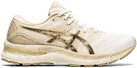 ASICS Women's Gel-Nimbus 23 Running Shoes, 10, Cream/Putty