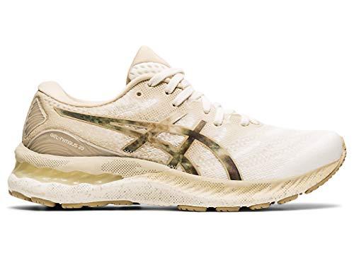 ASICS Women's Gel-Nimbus 23 Running Shoes, 12M, Cream/Putty