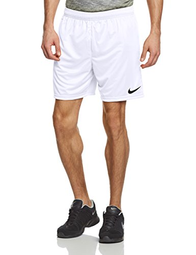 Nike Park Knit without brief, Pantalones de fútbol para hombre, Blanco (White/Black), S
