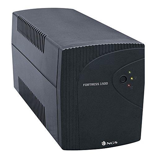 NGS FORTRESS1500 Standby (Offline) Negro sistema de alimentación ininterrumpida (UPS) - Fuente de alimentación continua (UPS) (Standby (Offline), Negro, Sobrecarga, Cortocircuito)