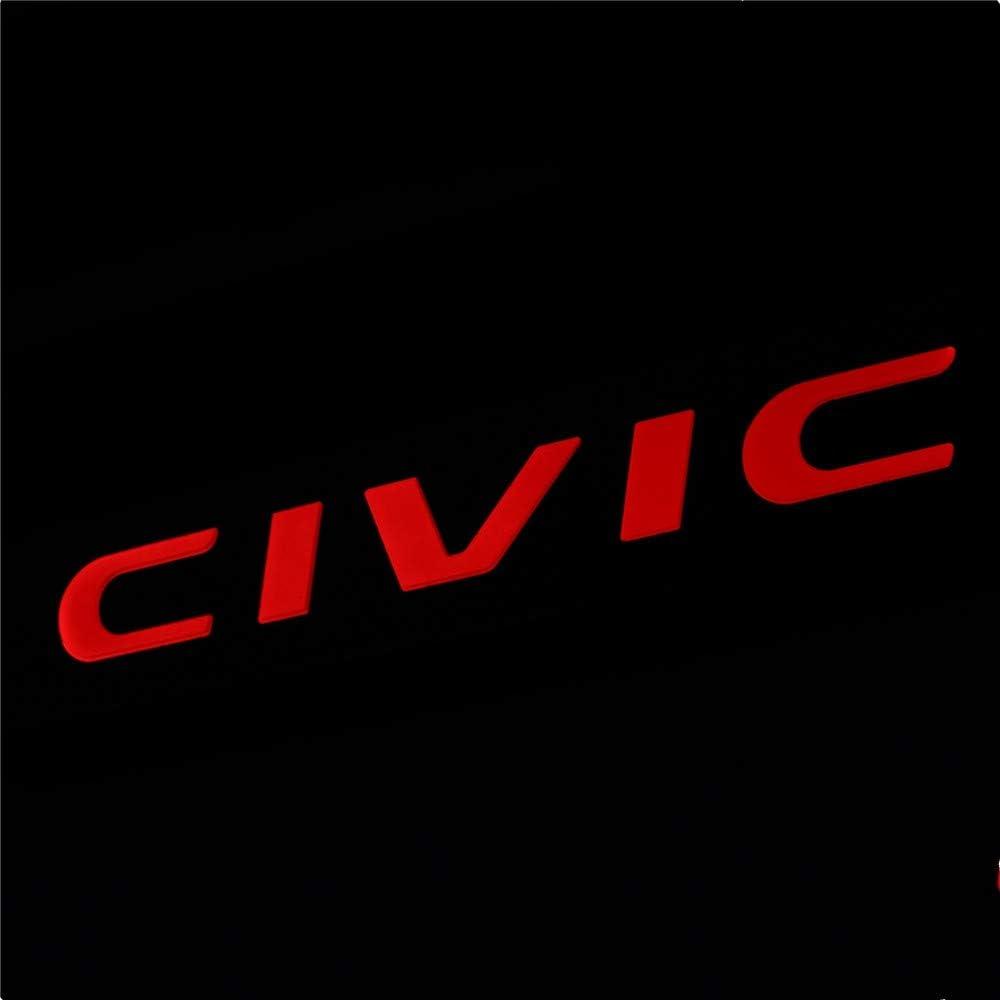 OLIKE for Honda Civic 2016-2021 10TH New Sedan Hatchback Fashion Style Car Door Sill Scuff Plate Guard Sills Protector Trim