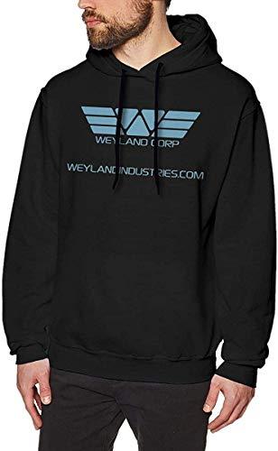 Rehero Men's Weyland Corp Long Sleeve Hooded Sweat Shirt Pullover,As Pic,3X-L