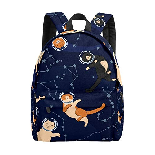 Kid's Backpacks Space Cats Constellations Rucksack Cute Student School Book Bags