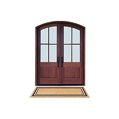 DeCoir 24  x 60  'Classic Border' Large Coir Double Door Mat