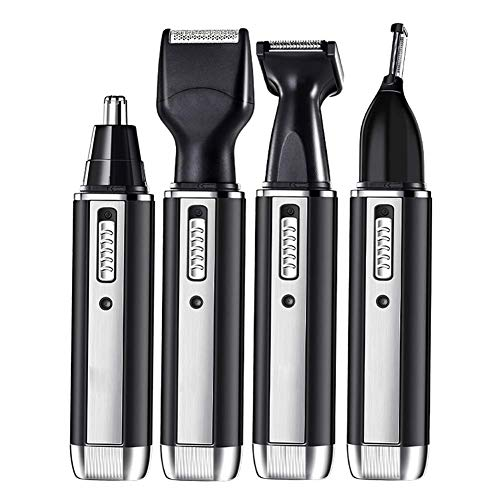 Electric Razor Shaver 3D Rotary Floating Blades for Mens Cordless Wet Dry Beard Nose Hair Trimmer USB Rechargeable Facial Cleaning Brush Best Xmas Gift for Dad, Boys, Teens (Black + Blue)