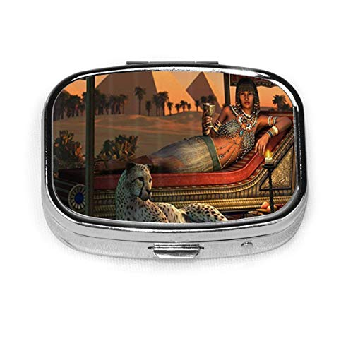 Egyptian Sex Lady Custom Pills Packing Organizer,Daily Decoration Pill Box for Purse Metal