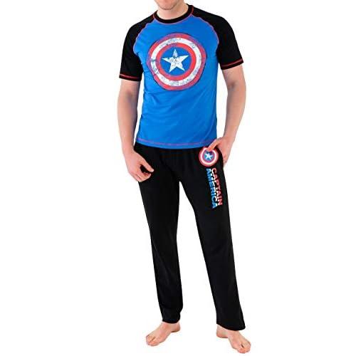 Marvel - Pigiama per Uomo - Avengers Captain America - Small