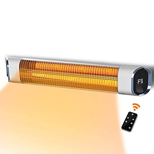WANGT Infrarrojo Patio Calentador,Montado Eléctrico Calentador 24h Temporizador 9 Opcional Calefacción Infrarrojos Calentador Espacio con Control Remoto para Habitaciones, Garaje, Patio