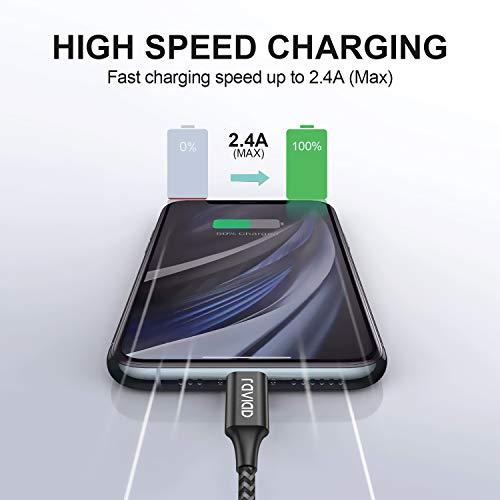 iPhone Ladekabel, Lightning Kabel [2Pack 2M] MFi Zertifiziert iPhone Kabel Kompatibel mit iPhone 11/11 Pro/XS/XS Max/XR/X/8/8 Plus/7/7 Plus/6s/6/6 Plus/5S/5/SE 2020, iPad Mini/Air/Pro - Schwarz