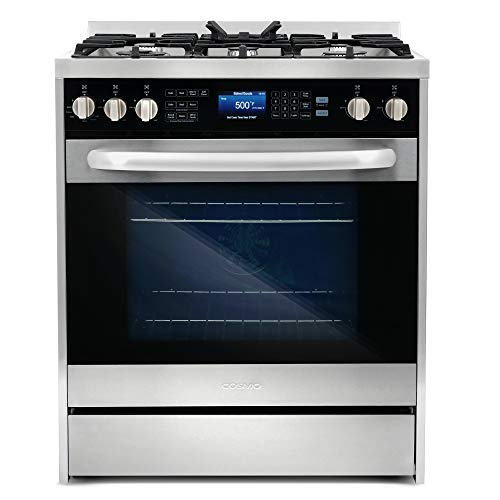 Commercial-Style 30 in 5 cu. ft. Single Oven Dual Fuel Range with 7 Function Convection Oven in Stainless Steel