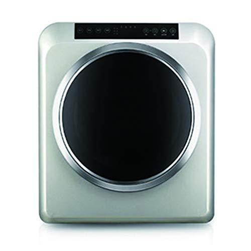 No brand Piccolo Asciugatrice Slim per Uso Domestico con capacità di 6 kg, Resistenza PTC, Protezione da Sovratemperatura 60 ° C, 1500 W, Pannello di Controllo Touch, Display A LED