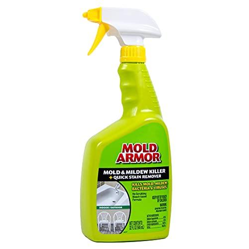 MOLD ARMOR FG502 Mold and Mildew Killer + Quick Stain Remover-Trigger Spray Bottle, 32 oz