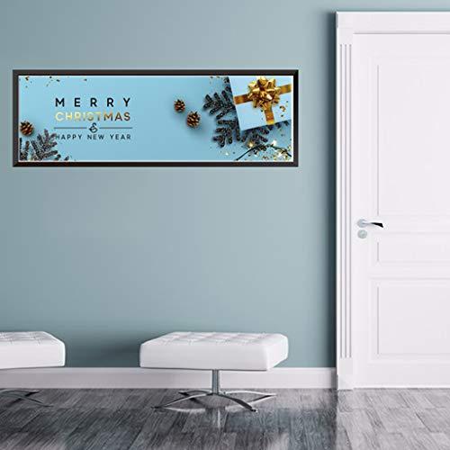 Pegatinas de pared para dormitorio, Navidad, decoración de cocina, lindas pegatinas de Navidad para ventanas de casa, citas de flores para el día de San Patricio en (D)
