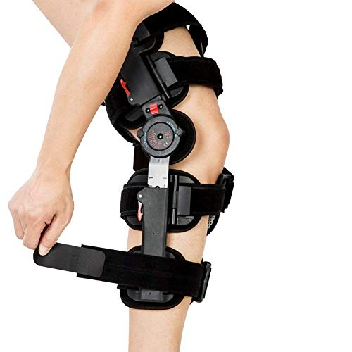 hinged knee braces Hinged Knee Brace Rom, Knee Support for Torn Acl, Meniscus Tear, Pcl, Surgery Recovery, Adjustable Post Op Knee Immobilizer, Leg Stabilizer for Man and Women