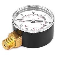 圧力計、圧力試験ゲージ真ちゅう1 / 4BSPTねじ50mm空気用水用空気用油用ガス用燃料用(0-60psi 0-4bar)