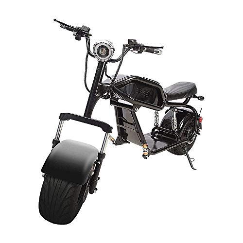 FREIHE Motocicleta Todoterreno Retro Bicicleta eléctrica Hombres y Mujeres Adultos Rueda Grande...