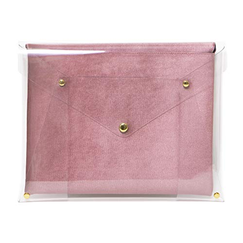 """Bolsa de veludo Sonix PVC rosa para laptop, capa de envelope acolchoada para MacBook (13"""") - Rosa claro"""