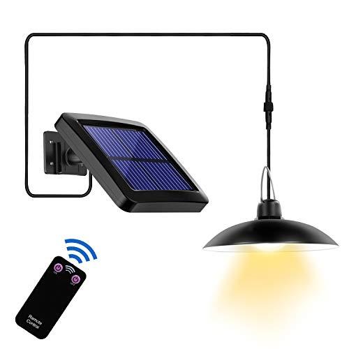 Suroper Solarlampen für Außen mit Fernbedienung 16 LED Solar Hängelampe 180° Einstellbares Solarpanel LED Wandleuchte IP65 Wasserdichte Außenwandleuchte für Camping, Garden, Home Decorate(Ein Licht)