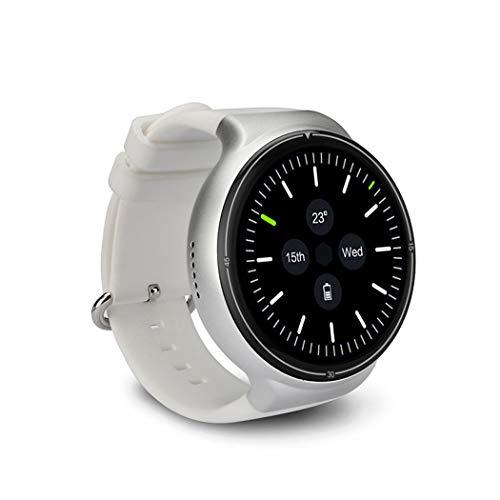 HN Deportes Smart Watch iOS Y ANDROID2G + 16G Luz Y Pantalla Completa 3G Tarjeta De Sueño De Pago GPS Posicionamiento WiFi Frecuencia Cardíaca,White