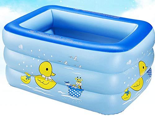 nobrand Wwceem Mink Kayak Rechteckiger aufblasbarer Schwimmhinterhof Innen und Außen Blau Weiß 130 * 90 * 60 cm Blauer Pool Geeignet für Erwachsene und Kinder Gartenhaus
