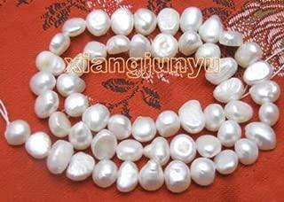 FidgetGear - Cuentas Sueltas de Perlas Blancas Naturales de Agua Dulce de 6 a 7 mm, 35,6 cm - Los405, Blanco, 4-5mm