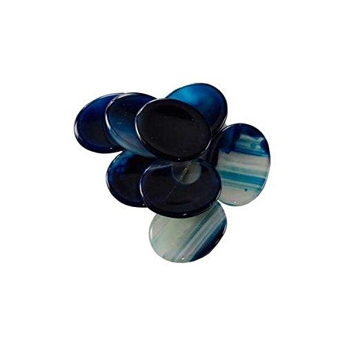 Blue Onyx Worry Stone (One Stone, Random Pick)