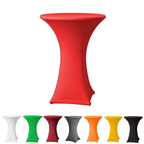 Babat Stehtischhusse Stretch in Farbe rot und Durchmesser 70-75 für Bistrotisch/Stehtisch