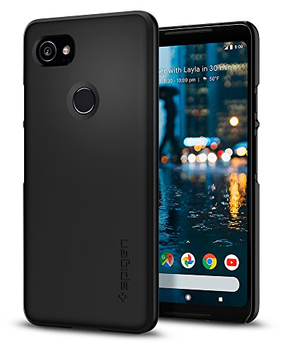 Spigen [Thin Fit Google Pixel 2 XL Hülle (F17CS22285) Passgenaues Premium Slim HartPC Schale/Schlanke Design Hard Case Handyhülle/Schutzhülle [Schwarz]